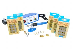 Startec Multi Heat Pyrography Kit with 14 Tips & 5x Woodburning Stamp Sets. M9196